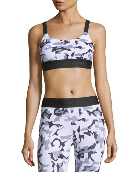 c448eb2abf7f3 Koral Activewear Dare Camo-Print Athletic Sports Bra