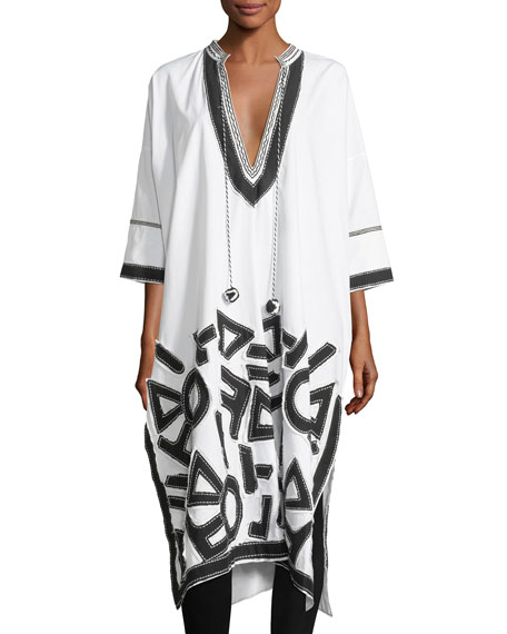 Graphic Patchwork Caftan