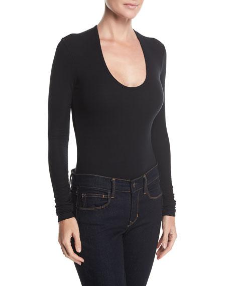 Modal Rib Scoop-Neck Bodysuit
