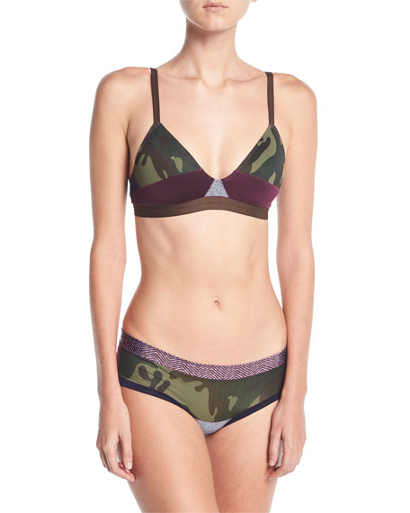 The Boys Are Back Gisele Camouflage Bralette