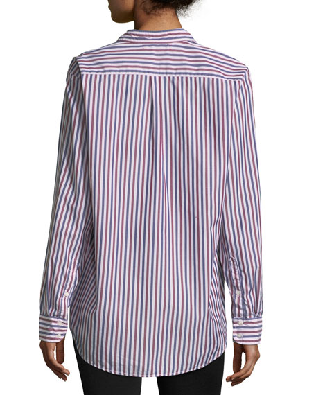 Yale Club Striped Lounge Shirt