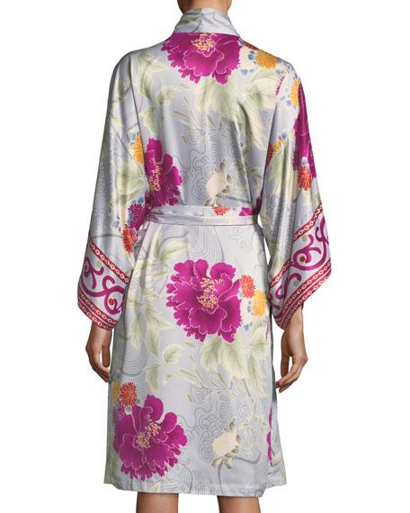 Auburn Floral Long Sleeve Robe