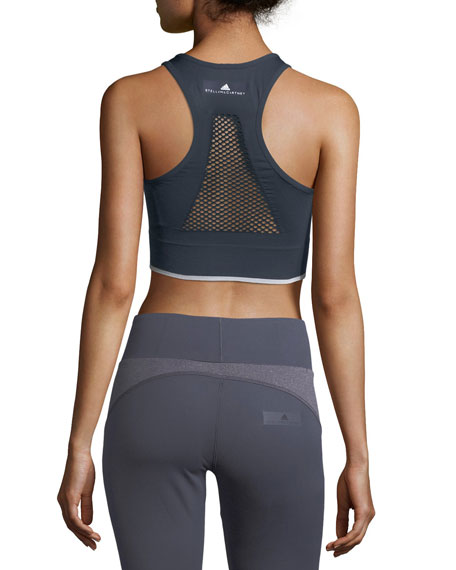 Seamless Light-Support Zip-Front Performance Sports Bra