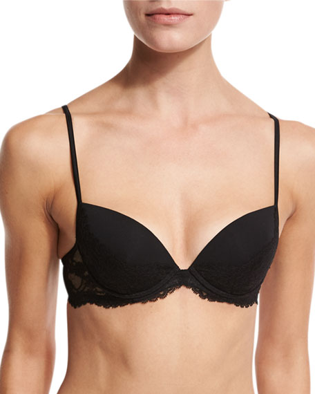 La Perla Airy Blooms Push-Up Bra, Black
