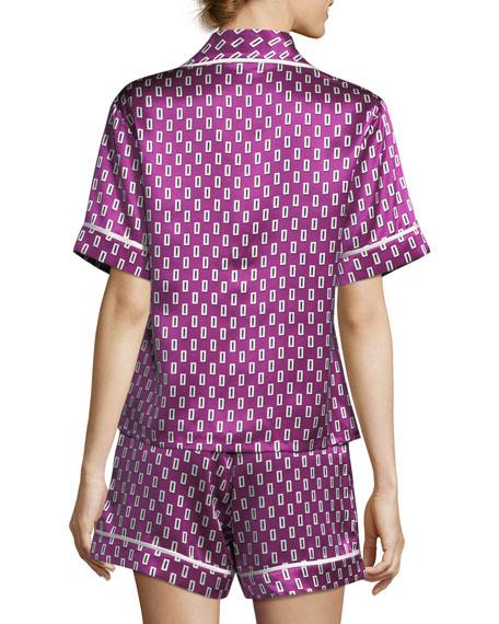 Milllicent Billie Silk Shortie Pajama Set