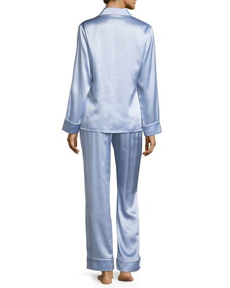 Coco Sky Long Silk Pajama Set