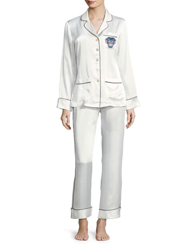 Coco Tiffany Long Silk Pajama Set