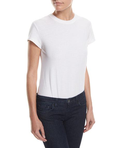 High-Twist Short-Sleeve Cotton Bodysuit