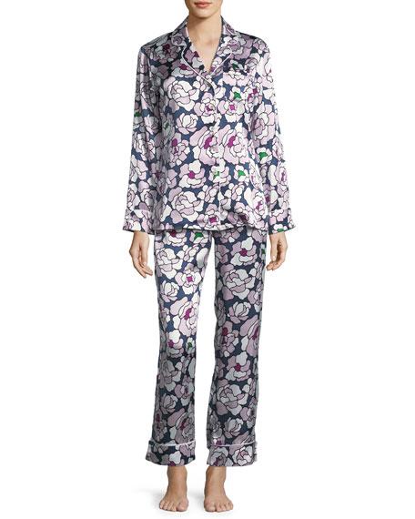 Lila Roxanne Long Silk Pajama Set