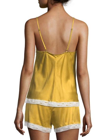 Suni Lace-Trim Silk Camisole