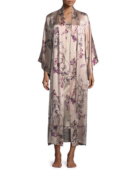 Pandora Long Silk Robe