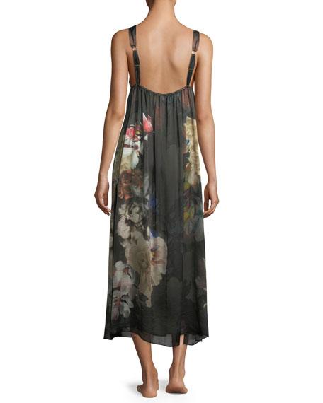 Dark Romance Silk Long Nightgown