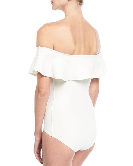 Olivia Off-the-Shoulder Flounce Bodysuit