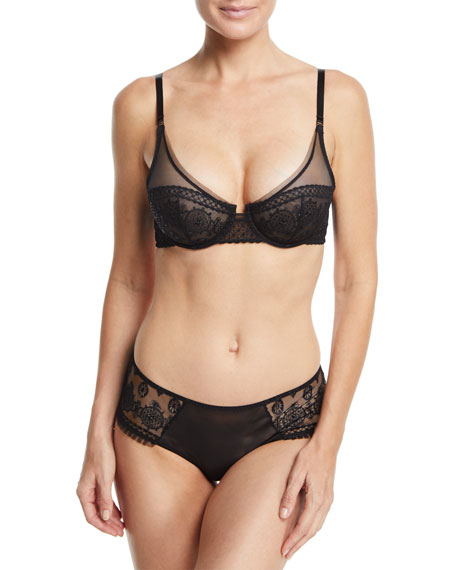 Midnight Full-Cup Tulle Bra
