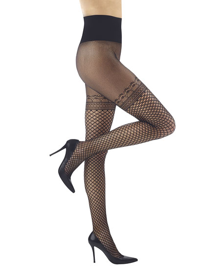 Commando Deco Faux-Thigh High Tights