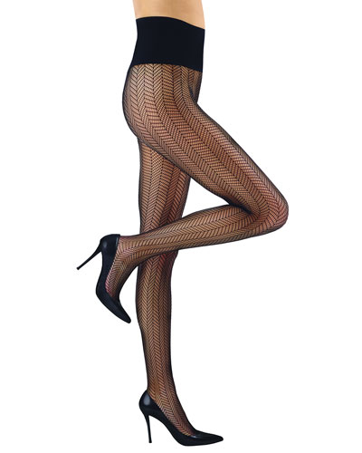 Herringbone Net Tights