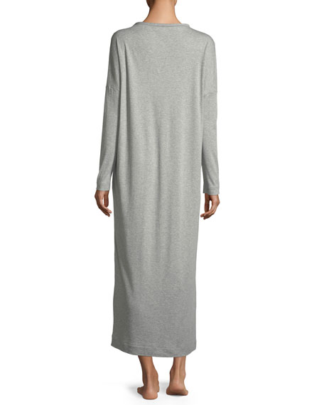 Enie Long-Sleeve Cotton Nightgown