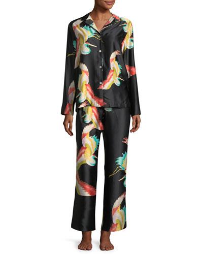 Vermilion Long-Sleeve Pajama Set