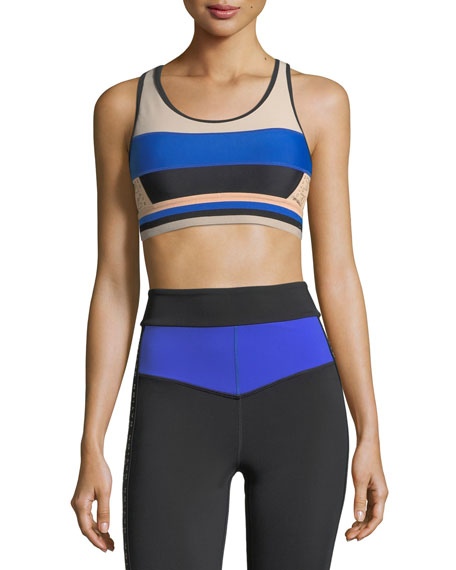 The Tournament Racerback Paneled Crop Top