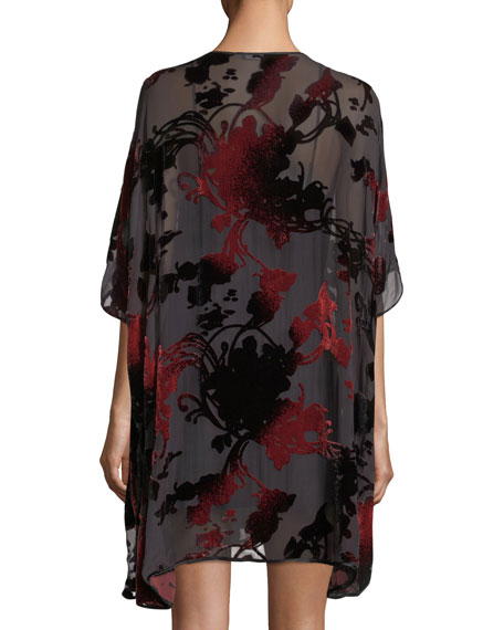 Shadow Velvet-Burnout Caftan