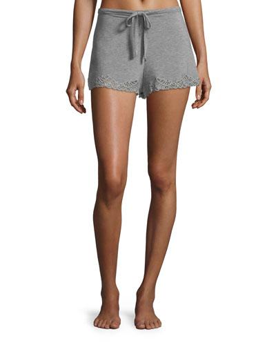Feathers Lace-Trim Lounge Shorts