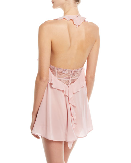 Elements Silk-Blend Ruffled Chemise