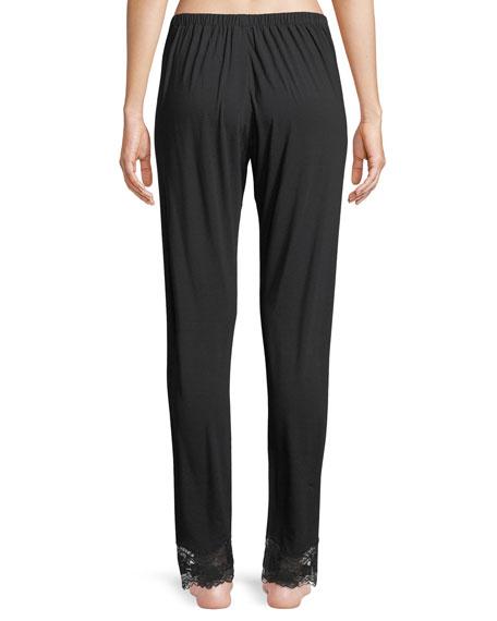 Lapis Lace-Cuff Lounge Pants