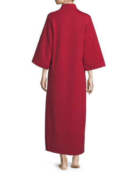 Akimo Quilted Zip-Front Caftan