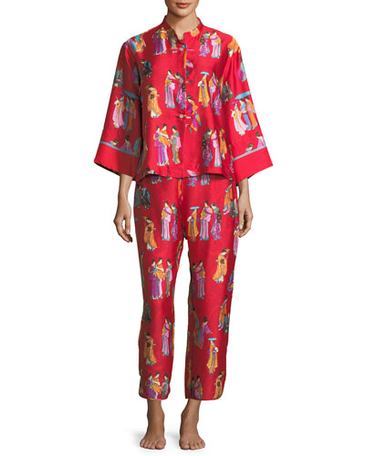 Geisha Twill Pajama Set