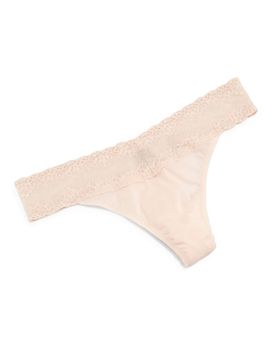 Bliss Perfection Lace-Trimmed Thong, Tulle
