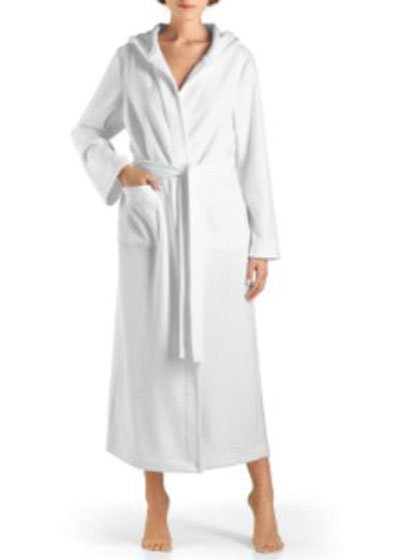 Hooded Plush Long Robe