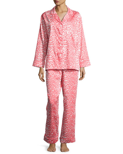 Wild Thing Classic Pajama Set, Coral/Ivory, Plus Size