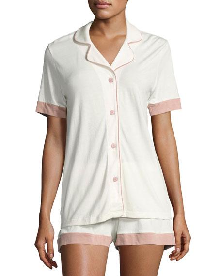 Bella Cap-Sleeve Shorty Pajama Set