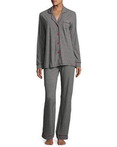 Bella Striped Long-Sleeve Pajama Set