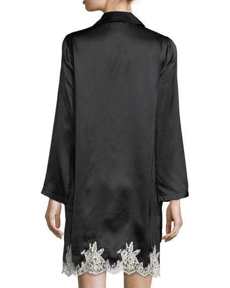 Splendeur Silky Lace-Hem Robe