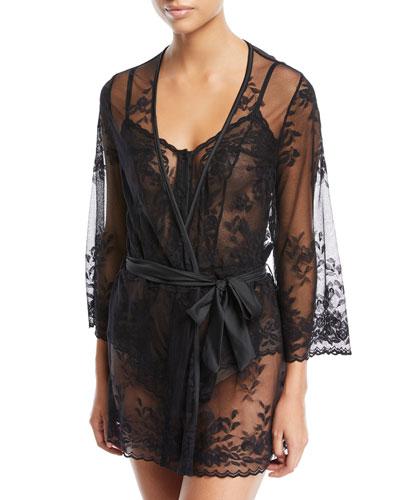 Seymour Sheer Lace Robe