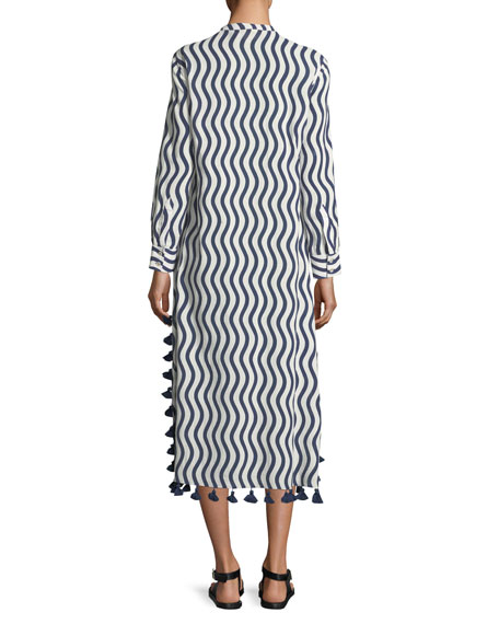 Paolia Tassel-Trim Caftan Dress