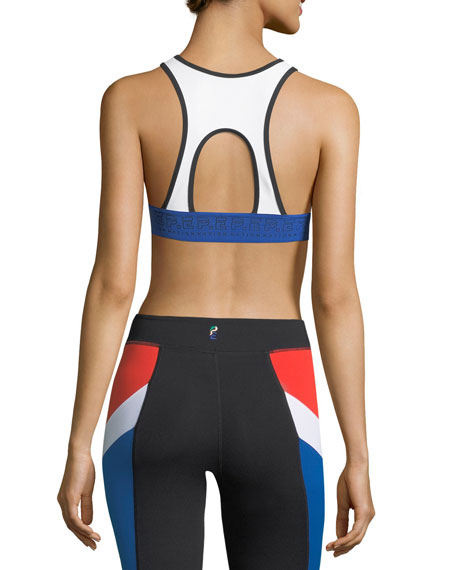 Double Header Crop Performance Sports Bra