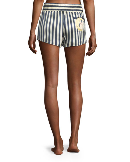 Corey Owl-on-the-Moon Pajama Shorts