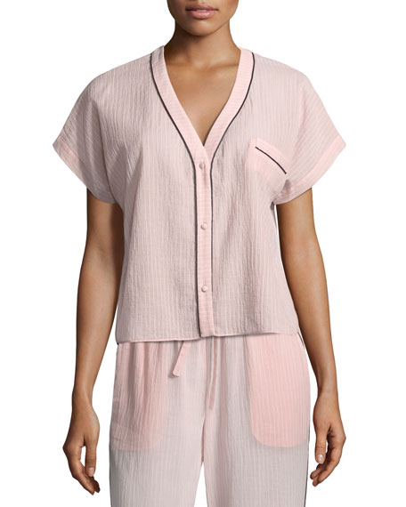 Joana Pinstriped Pajama Top