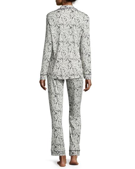 Bella Dot-Print Long-Sleeve Pajama Set
