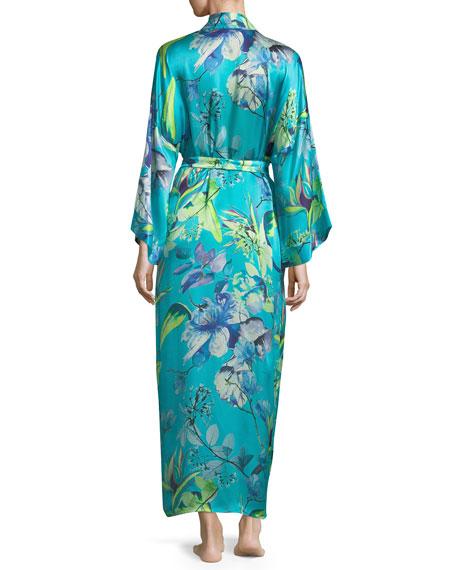 Capri Floral-Print Long Robe