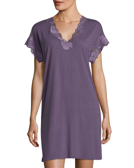 Zen Floral-Lace Sleepshirt