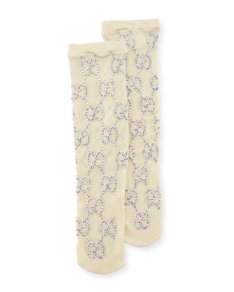 Knit Socks w/ Crystal Interlocking G