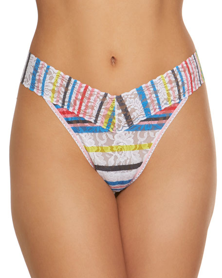 Brighton Stripe Original-Rise Lace Thong