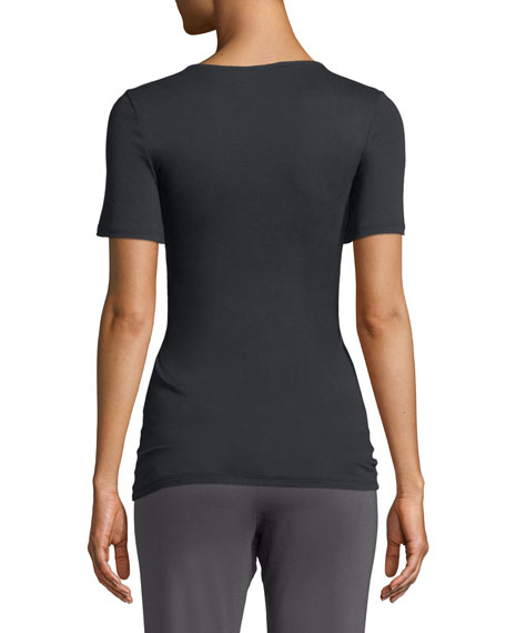 Sea Island Cotton Scoop-Neck T-Shirt