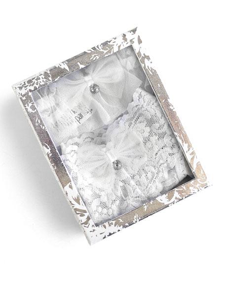 Crystal Bow Thong/Garter Set