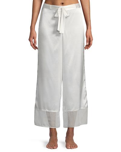 Sleek Silk-Blend Lounge Pants