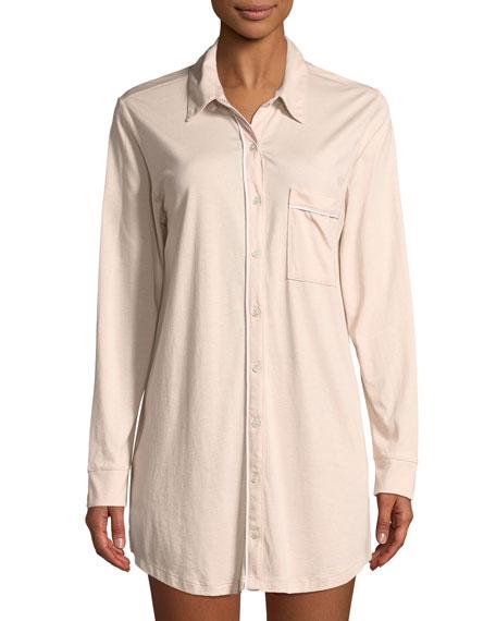 Pima Cotton Long-Sleeve Sleepshirt
