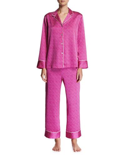 Labrinth Satin Pajama Set